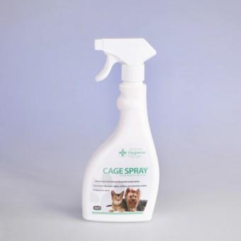 Дезинфицирующий спрей lдля уборкиза животными - Cage Spray - для обработки клеток,  столов для груминга, боксов, а также помещений.