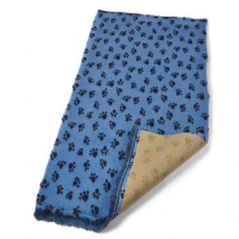 Меховой коврик для собак на нескользящей основе Bronte Glen, голубой