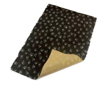 Меховой коврик для собак на нескользящей основе Bronte Glen, черный