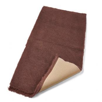 Меховой коврик для собак на нескользящей основе Active Non-Slip Vet Bedding коричневый.