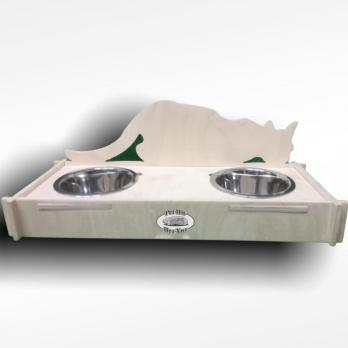 Подставка с 2-мя мисками для кормления кошек и котят