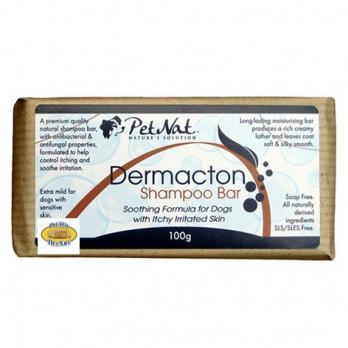 Высокоэффективный натуральный твердый шампунь Dermacton для собак с зудящей и раздраженной кожей, 100 г